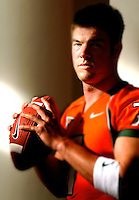 University of Miami starting quarterback #7 Brock Berlin is pictured during media day on campus in Miami, Fl. (Rick Wilson/The Florida Times-Union)