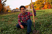 Tarrytown, New York<br /> October 27, 2015<br /> <br /> Jack Algiere the farm director of The Stone Barns Center for Food and Agriculture. The Center is a nonprofit farm and education center located just 25 miles north of Manhattan in Pocantico Hills, New York.