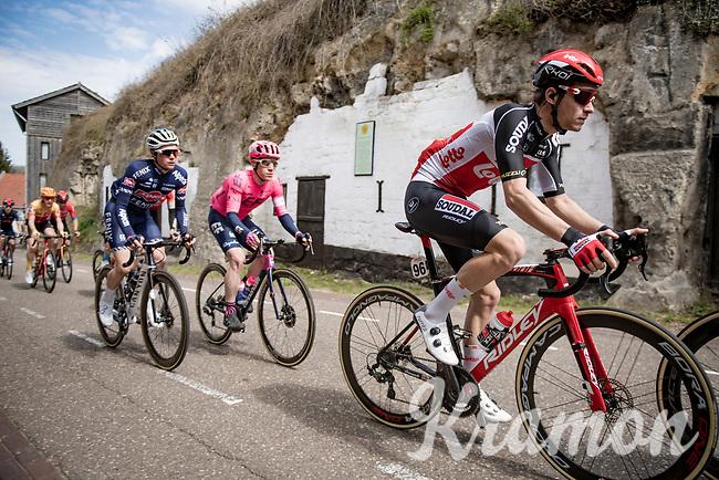 Tosh Van der Sande (BEL/Lotto Soudal) up the Geulhemmerberg<br /> <br /> 55th Amstel Gold Race 2021 (1.UWT)<br /> 1 day race from Valkenburg to Berg en Terblijt; raced on closed circuit (NED/217km)<br /> <br /> ©kramon
