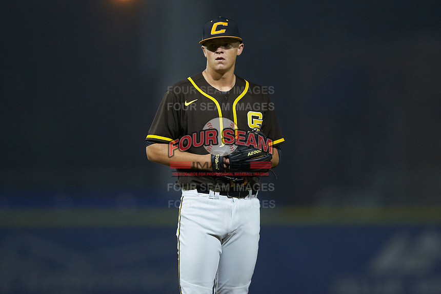 Hunter Stevens playing for the San Diego Padres scout team during the South Atlantic Border Battle Futures Game at Truist Point on September 25, 2020 in High Pont, NC. (Brian Westerholt/Four Seam Images)