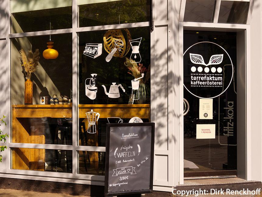 Torrefaktum Kaffeerösterei Eppendorfer Weg 283 in Hamburg-Hoheluft-Ost, Deutschland, Europa<br /> Torrefaktum coffee roasters, Eppendorfer Weg 283 in Hamburg-Hoheluft-Ost, Germany, Europe