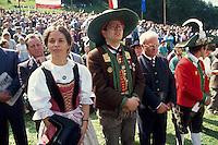- gathering of south Tirol indipendentist  and schützen at Brenner pass, the Eva Klotz leader....- raduno indipendentisti sud Tirolesi e schützen al passo del Brennero, la leader Eva Klotz