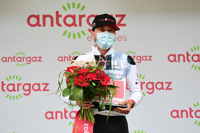 Marc Hirschi (SUI) Team Sunweb wins the day's combativity award at the end of Stage 9 of Tour de France 2020, running 153km from Pau to Laruns, France. 6th September 2020. <br /> Picture: ASO/Alex Broadway | Cyclefile<br /> All photos usage must carry mandatory copyright credit (© Cyclefile | ASO/Alex Broadway)