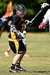 GER - Hannover, Germany, May 31: During the Men Lacrosse Playoffs 2015 match between ABV Stuttgart 1863 (white) and HTHC Hamburg (black) on May 31, 2015 at Deutscher Hockey-Club Hannover e.V. in Hannover, Germany. Final score 2:10. (Photo by Dirk Markgraf / www.265-images.com) *** Local caption *** Justus Paul #13 of HTHC Hamburg