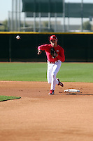 Aledmys Diaz, recently defected from Cuba, works out for scouts and team officials at the Padres training complex on February 13, 2014 in Peoria, Arizona (Bill Mitchell)