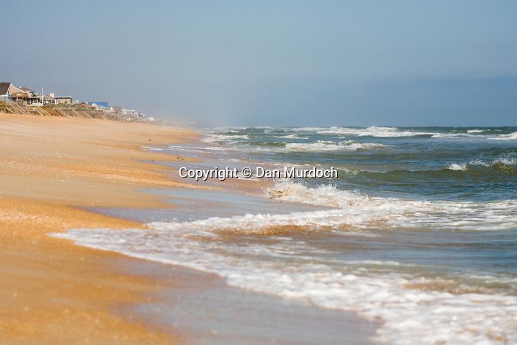Wind tossed waves under blue skies at Ponte Vedra Beach, Florida