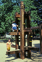 St. Louis: Tower Grove Park--play structure. Photo '78