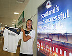 Bilel Mohsni launches the new Rangers away kit at the Rangers shop at Glasgow Airport