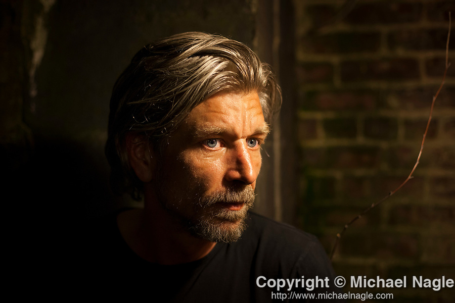 BROOKLYN  -- JUNE 02, 2014:  Karl Ove Knausgaard poses for a portrait on June 04, 2014 in Brooklyn.  Photograph by Michael Nagle