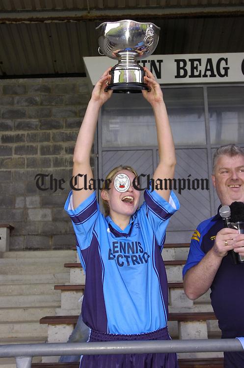 Ladies senior football final Cooraclare v Miltown at Doonbeg.Pic Arthur Ellis.