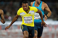 22 AUG 2013 - STOCKHOLM, SWE - Will Sharman of Great Britain takes third place in the men's 110m hurdles race during the DN Galen meet of the 2013 Diamond League in the Stockholm Olympic Stadium in Stockholm, Sweden (PHOTO COPYRIGHT © 2013 NIGEL FARROW, ALL RIGHTS RESERVED)