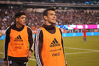 EAST RUTHERFORD, NJ - SEPTEMBER 7: Hirving Lozano #22 of Mexico during the game during a game between Mexico and USMNT at MetLife Stadium on September 6, 2019 in East Rutherford, New Jersey.