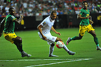 Atlanta, Georgia - Wednesday, July 22, 2015. The Jamaica National Team defeated the USMNT 2-1 in the semifinals of the 2015 Gold Cup in the Georgia Dome.