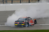 NASCAR XFINITY Series<br /> Kansas Lottery 300<br /> Kansas Speedway, Kansas City, KS USA<br /> Saturday 21 October 2017<br /> Christopher Bell, JBL Toyota Camry celebrates his win with a burnout <br /> World Copyright: Russell LaBounty<br /> LAT Images