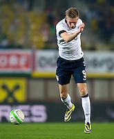 VIENNA, Austria - November 19, 2013: Aron Johannsson during a 0-1 loss to host Austria during the international friendly match between Austria and the USA at Ernst-Happel-Stadium.