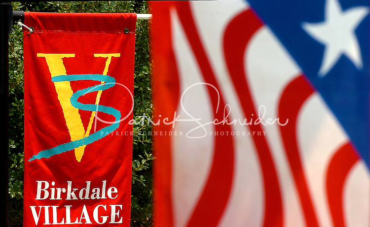 Photography of the annual Fourth of July Celebration and community parade in Birkdale Village in Huntersville, NC. Birkdale Village combines the best of shopping, dining, apartments and entertainment venues within a 52-acre mixed-use development.