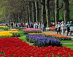 Niederlande, Suedholland, bei Lisse: hollaendische Parkanlage Keukenhof, ein Touristenmagnet zur Zeit der Tulpenbluete | Netherlands, South Holland, near Lisse: Keukenhof also known as the Garden of Europe,  the world's largest flower garden