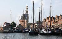 Nederland  Hoorn- September 2020 .  De Hoofdtoren en de Veermanskade.   Foto : ANP/ Hollandse Hoogte / Berlinda van Dam