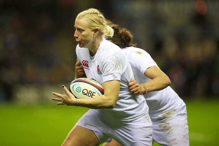 Tamara Taylor of England Women in action during the test match between England Women and the Black Ferns at Twickenham on Saturday 01 December 2012 (Photo by Rob Munro)