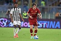 23rd September 2021;  Stadio Olimpicom, Roma, Italy; Serie A League Football, Roma versus Udinese; Nicolo Zaniolo of As Roma