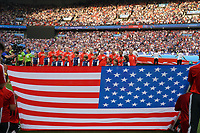 PARIS, FRANCE - JUNE 28: United States prior to a 2019 FIFA Women's World Cup France quarter-final match between France and the United States at Parc des Princes on June 28, 2019 in Paris, France.