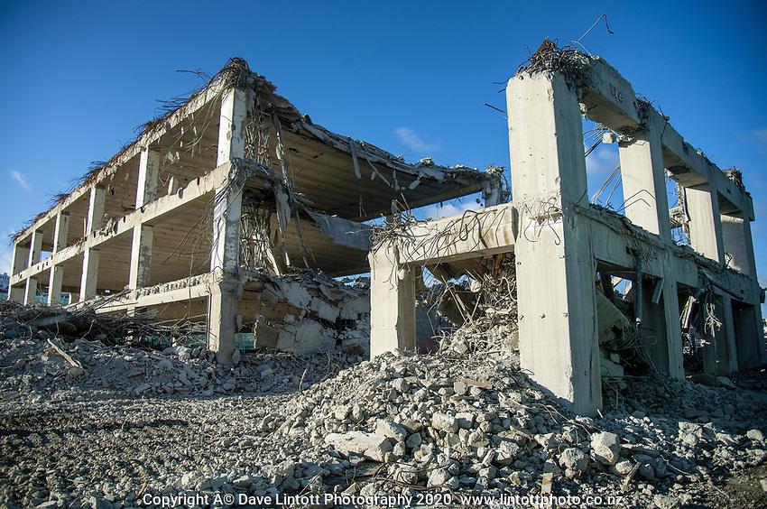 BNZ building demolition site. CentrePort in Wellington, New Zealand on Tuesday, 22 September 2020. Photo: Dave Lintott / lintottphoto.co.nz