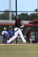 Emanuel Alicea (10) of Humacao High School in Humacao, Puerto Rico during the Under Armour Baseball Factory National Showcase, Florida, presented by Baseball Factory on June 12, 2018 the Joe DiMaggio Sports Complex in Clearwater, Florida.  (Nathan Ray/Four Seam Images)