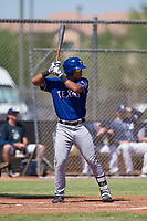 Texas Rangers third baseman Tyler Ratliff (32) at bat during an Instructional League game against the San Diego Padres on September 20, 2017 at Peoria Sports Complex in Peoria, Arizona. (Zachary Lucy/Four Seam Images)