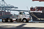 """""""Green Truck"""" in the Port of Long Beach"""