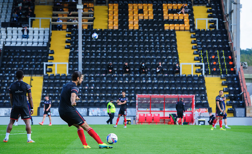 Lincoln City's Zack Elbouzedi during the pre-match warm-up<br /> <br /> Photographer Chris Vaughan/CameraSport<br /> <br /> The EFL Sky Bet League One - Saturday 12th September 2020 - Lincoln City v Oxford United - LNER Stadium - Lincoln<br /> <br /> World Copyright © 2020 CameraSport. All rights reserved. 43 Linden Ave. Countesthorpe. Leicester. England. LE8 5PG - Tel: +44 (0) 116 277 4147 - admin@camerasport.com - www.camerasport.com - Lincoln City v Oxford United