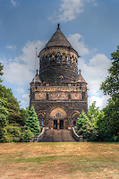 The exterior of the James A. Garfield Monument located in Lake View Cemetery in Cleveland, Ohio.  The monument is the final resting place of Mr. Garfield, the 20th president of the USA.