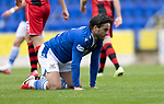 St Johnstone v St Mirren……29.08.20   McDiarmid Park  SPFL<br />Craig Conway reacts after shooting over<br />Picture by Graeme Hart.<br />Copyright Perthshire Picture Agency<br />Tel: 01738 623350  Mobile: 07990 594431