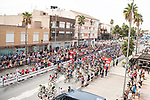 The start of Stage 9 of La Vuelta d'Espana 2021, running 188km from Puerto Lumbreras to Alto de Velefique, Spain. 22nd August 2021.    <br /> Picture: Cxcling   Cyclefile<br /> <br /> All photos usage must carry mandatory copyright credit (© Cyclefile   Cxcling)