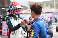 25th September 2021; Sochi, Russia; F1 Grand Prix of Russia  qualifying sessions;  F1 Grand Prix of Russia 63 George Russell GBR, Williams Racing, 4 Lando Norris GBR, McLaren F1 Team