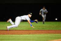 Mesa Solar Sox shortstop Javier Baez #6, of the Chicago Cubs organization, during an Arizona Fall League game against the Salt River Rafters at Salt River Fields at Talking Stick on October 9, 2012 in Scottsdale, Arizona.  Salt River defeated Mesa 6-5.  (Mike Janes/Four Seam Images)
