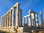 Temple of Poseidon at Cape Sounion near Athens, Greece. c 440 BC.