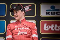 Podium: <br /> <br /> 2nd place finisher Mads Pedersen (DEN/Trek Segafredo)<br /> <br /> <br /> <br /> 102nd Ronde van Vlaanderen 2018<br /> 1day race: Antwerp › Oudenaarde - BEL (265k)