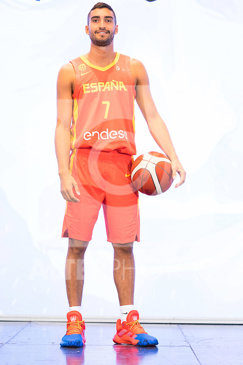 Player Jaime Fernandez during the official presentation of Spanish National Team of Basketball.  July 24, 2019. (ALTERPHOTOS/Francis Gonzalez)