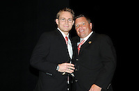 DC United defender Bryan Namoff receiving the Defender of the Year award from Assistant Head Coach Chad Ashton.    At the 6th Annual DC United Awards Presentation ,at the Atlas Performing Arts Center in Washington DC ,Wednesday October 27, 2009.
