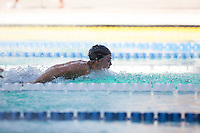 Santa Clara, California - Friday June 3, 2016: Leah Goldman races the 100 LC Meter Butterfly.