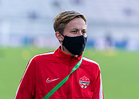 ORLANDO, FL - FEBRUARY 21: Quinn #5 of Canada walks on the field during a game between Canada and Argentina at Exploria Stadium on February 21, 2021 in Orlando, Florida.