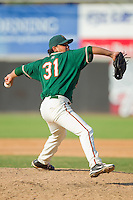 Starting pitcher Jose Alvarez #31 of the Greensboro Grasshoppers in action against the Hickory Crawdads at  L.P. Frans Stadium July 10, 2010, in Hickory, North Carolina.  Photo by Brian Westerholt / Four Seam Images