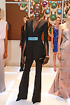 Model Ajak Deng poses with models during the Pamella Roland Resort 2017 collection fashion presentation at Bvlgari located at 4 West 57 Street in New York City, on June 8, 2018.