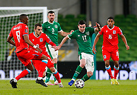 27th March 2021; Aviva Stadium, Dublin, Leinster, Ireland; 2022 World Cup Qualifier, Ireland versus Luxembourg; Josh Cullen of Ireland tries to get the ball out of his own half