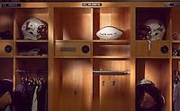 Empty F.M. Fred Kirby Locker in the Bourger Varsity Football House.chuck zovko  / Zovko Photographic llc.October 18, 2011.