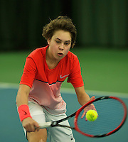 Rotterdam, The Netherlands, March 18, 2016,  TV Victoria, NOJK 14/18 years, Luca van den Berg (NED)<br /> Photo: Tennisimages/Henk Koster