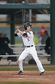 Nicholas Broshears (5) of Cerritos Hs High School in Cerritos, California during the Under Armour All-American Pre-Season Tournament presented by Baseball Factory on January 15, 2017 at Sloan Park in Mesa, Arizona.  (Kevin C. Cox/Mike Janes Photography)