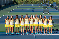 Berkeley, Ca - September 27, 2016: The Cal Bears 2016-2017 Women's Tennis Team