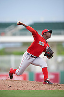 Boston Red Sox pitcher Victor Diaz (84) during an Instructional League game against the Minnesota Twins on September 23, 2016 at JetBlue Park at Fenway South in Fort Myers, Florida.  (Mike Janes/Four Seam Images)