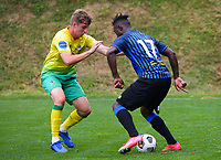 Joao Moreira in action during the Central League football match between Miramar Rangers and Lower Hutt AFC at David Farrington Park in Wellington, New Zealand on Saturday, 10 April 2021. Photo: Dave Lintott / lintottphoto.co.nz